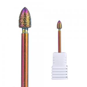 Diamond Bullet-shaped Nail Drill Bit